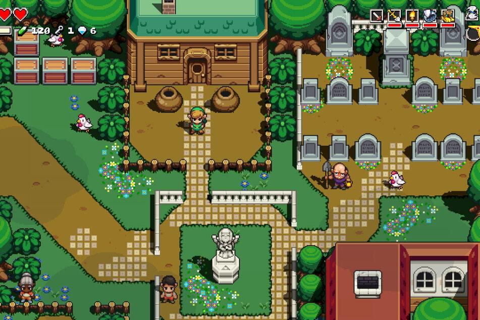 Das Dörfchen Kakariko ist im Zelda-Spinoff natürlich auch wieder mit dabei.
