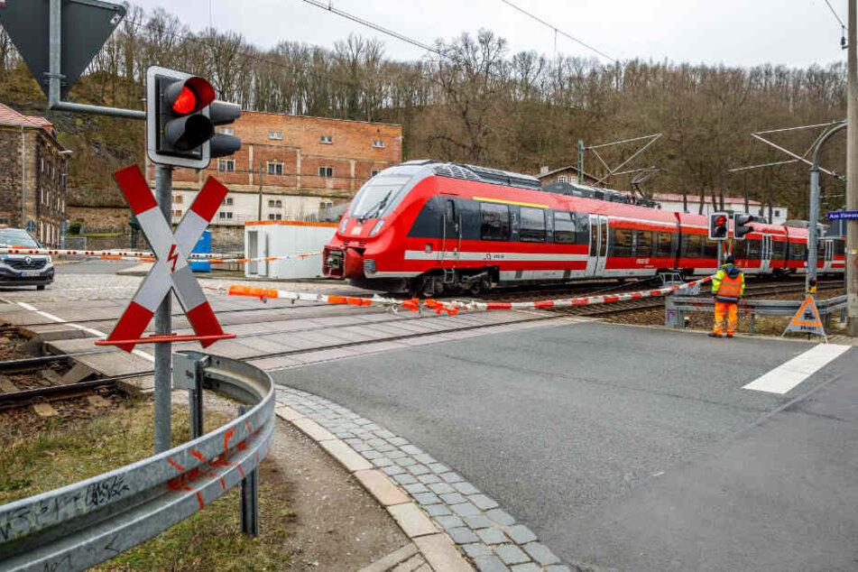 Dresden: Eisenbahnübergang am Felsenkeller: Deshalb halten hier die Posten Wache!