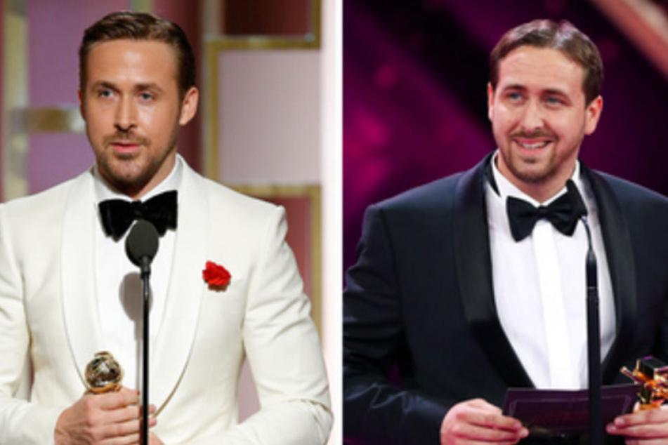 Was für eine Ähnlichkeit: Ryan Gosling (links) und Ludwig Lehner.