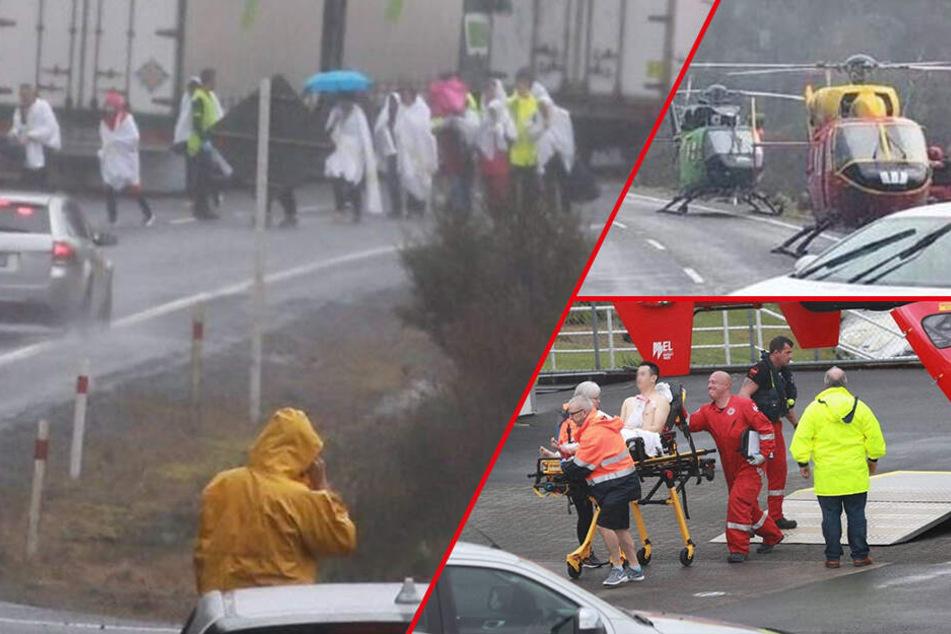 Horror-Unfall! Bus mit Touristen überschlägt sich: Mehrere Tote