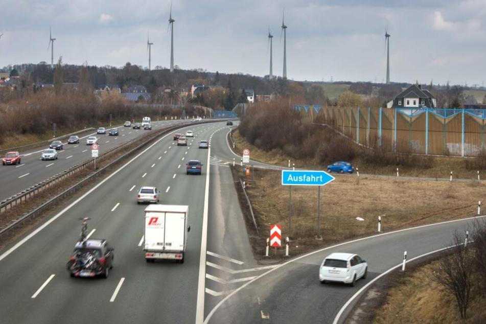 Es gibt Rückstau bis auf die A72 Chemnitz Rottluff. (Symbolbild)