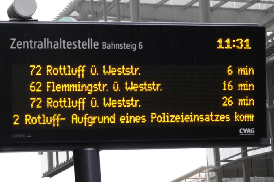 Aufgrund des Einsatzes kam es zu Verspätungen im Linienverkehr.
