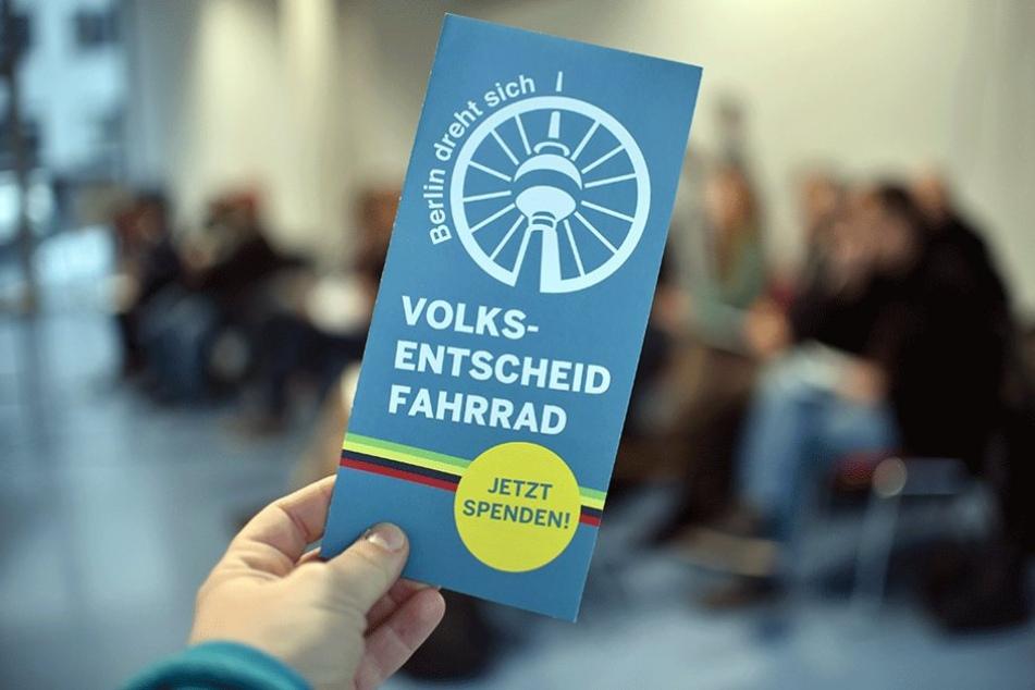 Mit dem Volksentscheid will die Initiative eine Verbesserung des Radwegenetzes in Berlin erreichen.