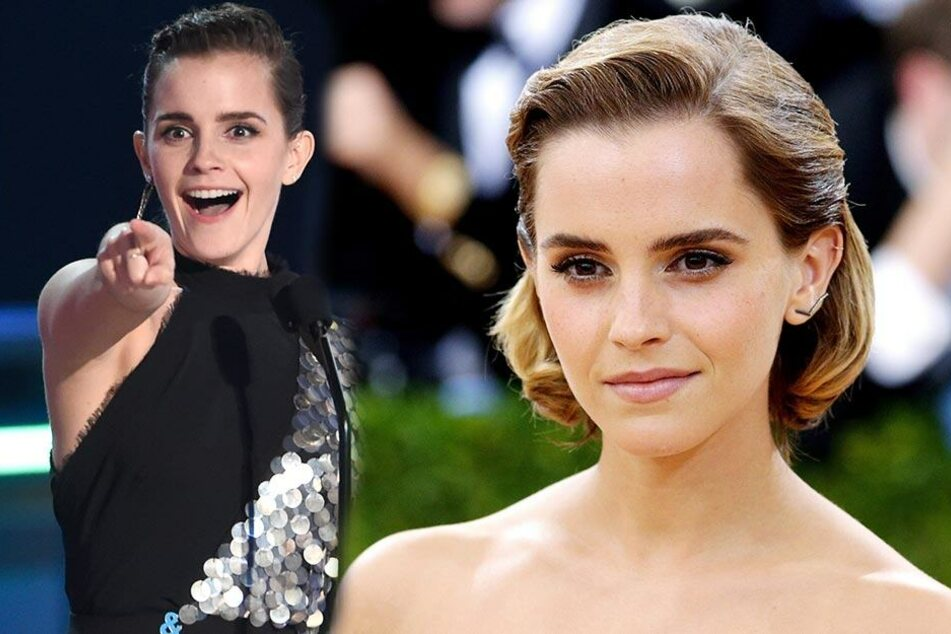 Emma Watson am 2.5.2017 in New York (rechts) und am 7.5.2017 bei den MTV Movie and TV Awards (links)