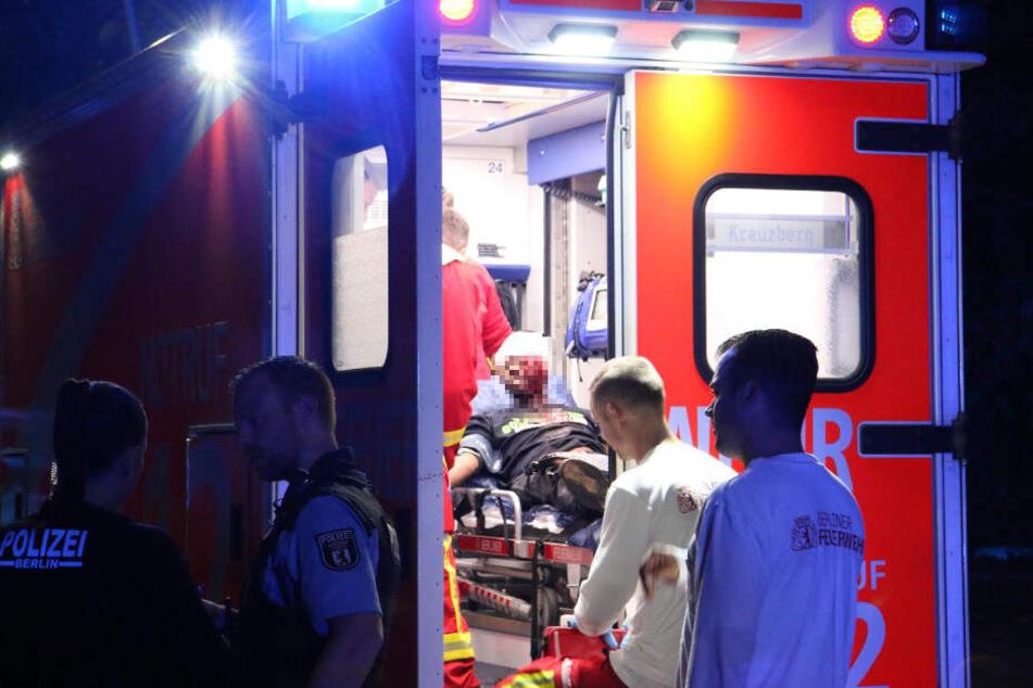 Die stark blutende Wunde des Angreifers musste später im Krankenhaus genäht werden.