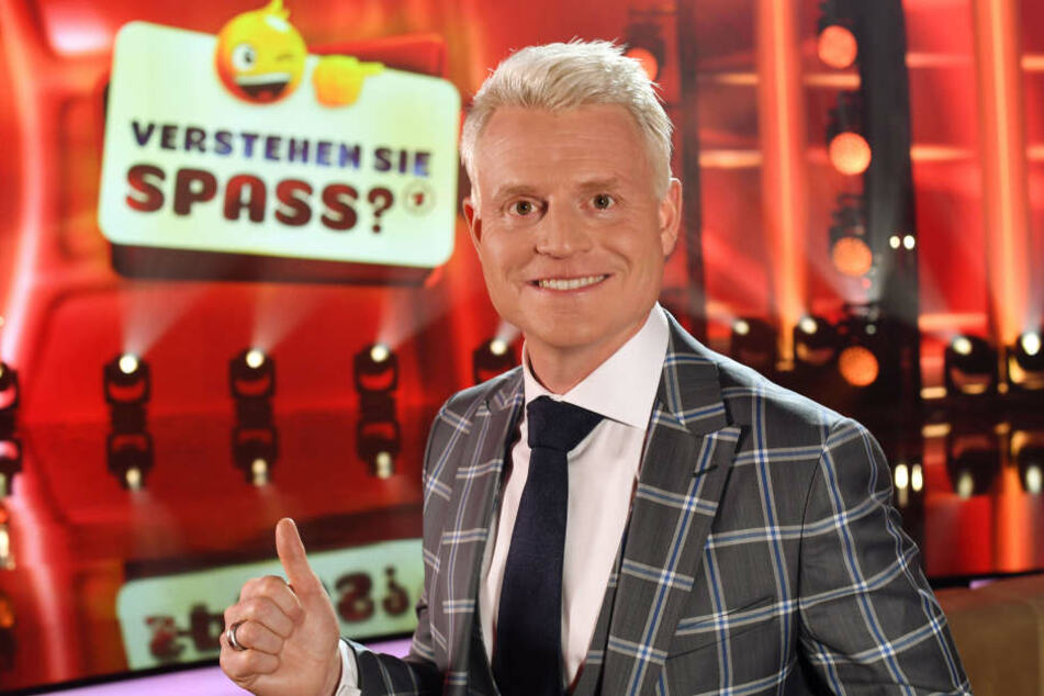 """Moderator Guido Cantz vor der letzten Ausgabe der Fernsehunterhaltungsshow """"Verstehen Sie Spaß?"""" in diesem Jahr (6. Dezember)."""