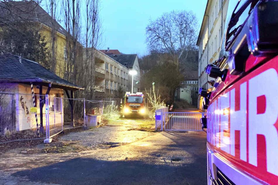 Plötzlich stieg Rauch aus dem alten Pirnaer Krankenhaus: Was war da los?