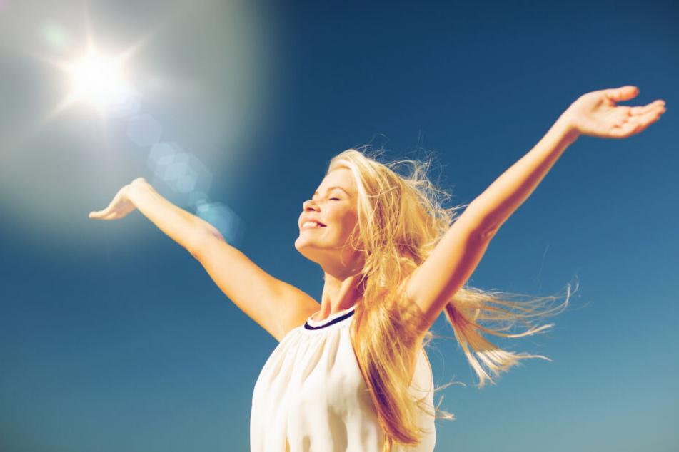 Heute könnt Ihr nochmal ordentlich Sonne tanken, am Mittwoch soll es dann regnen.