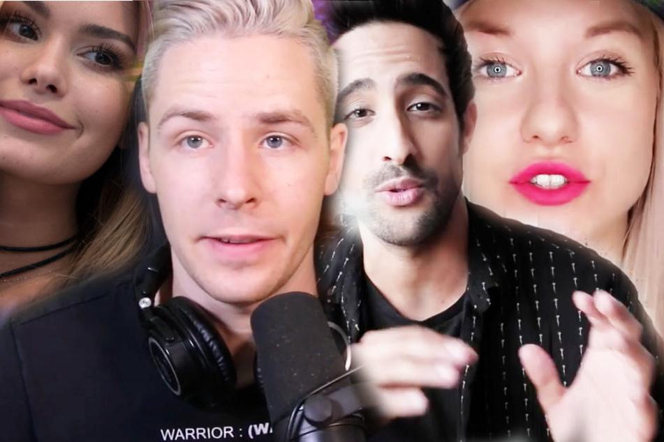 Wer wird Euer Online-Star? Unter anderem sind Pamela Reif, Rewi, Sami Slimani und Kelly Misses Vlog (v.l.n.r.) nominiert.
