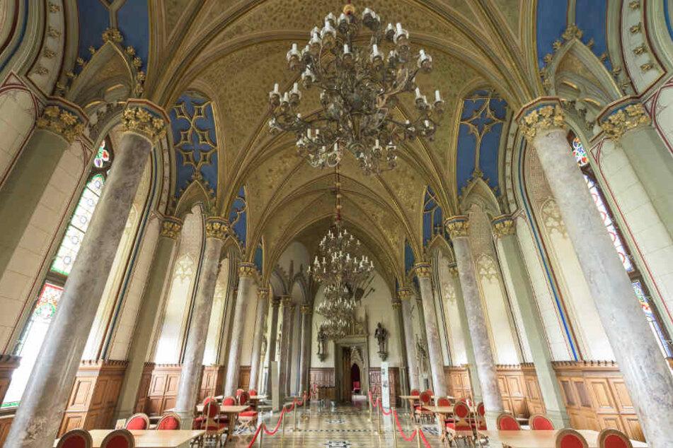 Der Grafensaal auf Burg Hohenzollern.