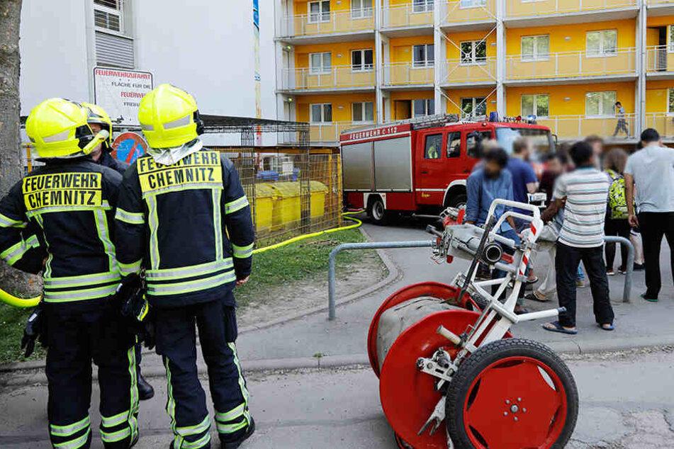 Im Wohnheim der TU Chemnitz brannte Essen auf dem Herd an.