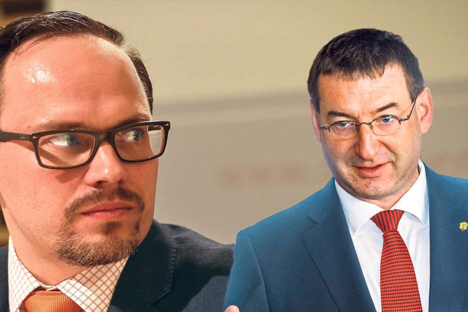 SPD-Fraktions-Chef Dirk Panter (43, li.) ist stinksauer auf die CDU. CDU-Finanzexperte Jens Michel (50, re.) gilt als strikter Gegner der Verbeamtung.