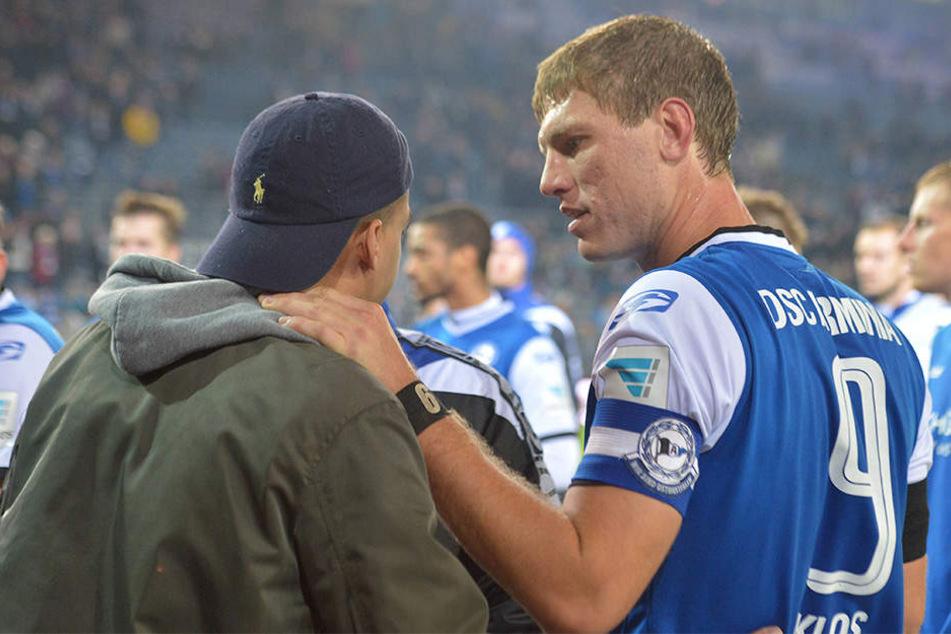 DSC-Kapitän Fabian Klos sucht das Gespräch mit den eigenen Fans.