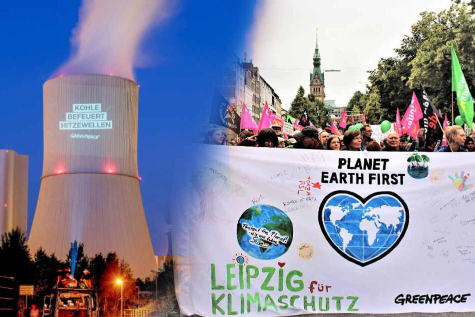 Greenpeace trifft sich am Samstag in Leipzig, um für eine gerechte Klimapolitik zu trommeln.