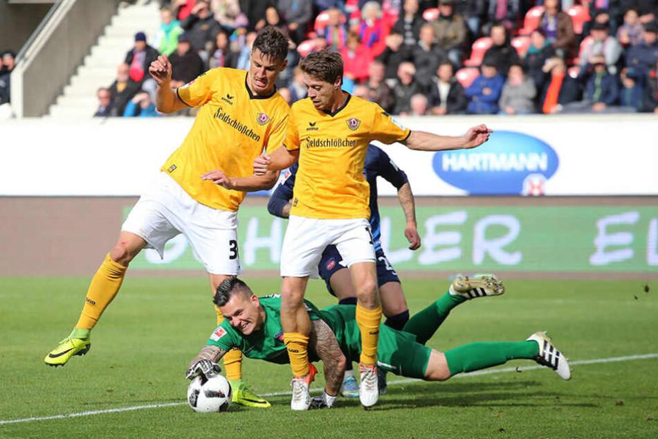 In der zweiten Halbzeit hätte Dynamo eigentlich führen müssen - Chancen gab es einige.