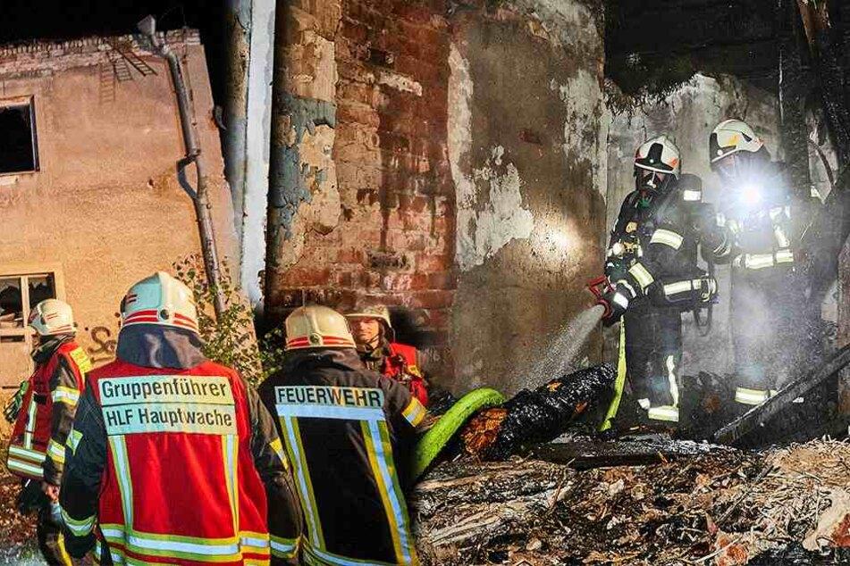 Rauch steigt auf: Ehemaliges Kittwerk Pirna brennt schon wieder!