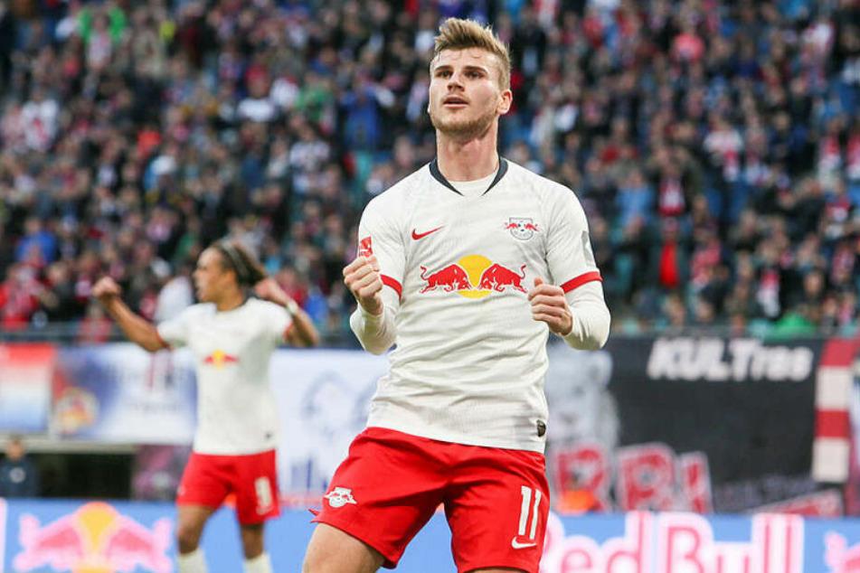 Timo Werner ist das Gesicht der beiden Leipziger Kantersiege. An zehn der 14 Treffer war er direkt beteiligt.