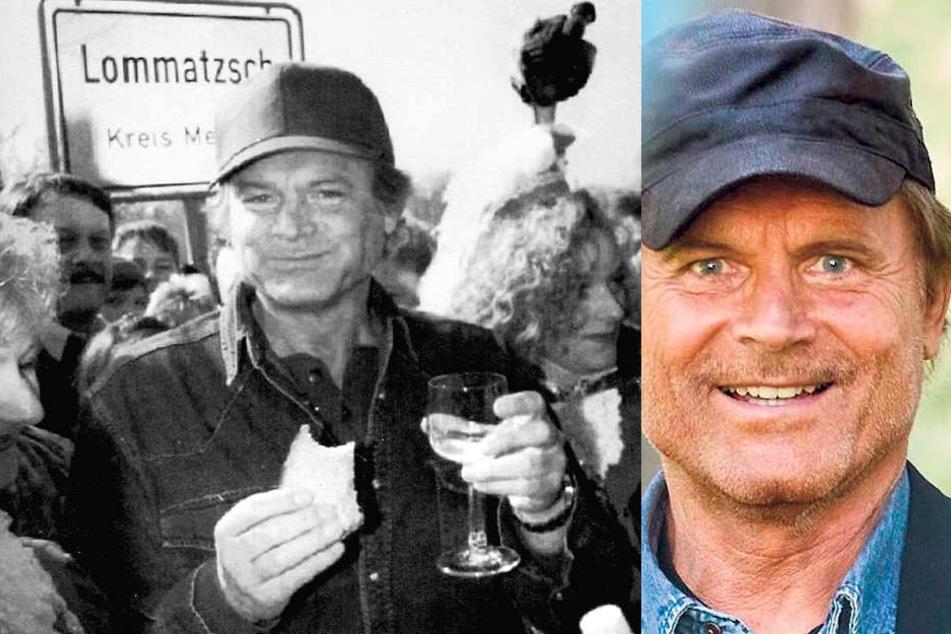 Benvenuto! Terence Hell bei seinem ersten Lommatzsch-Besuch 1995 - es wurde ein Volksfest.