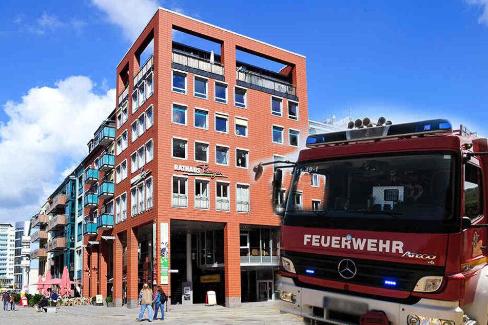 Verteilerkasten in Flammen: Brand im Chemnitzer Zentrum