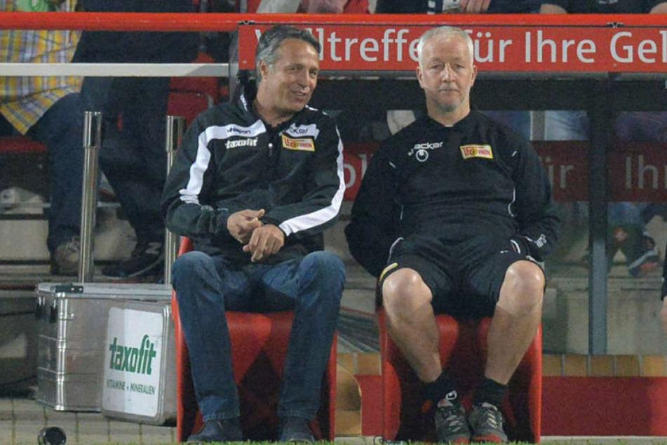 Waren sieben Jahre ein erfolgreiches Trainergespann bei Union Berlin: Uwe Neuhaus (l.) und André Hofschneider.