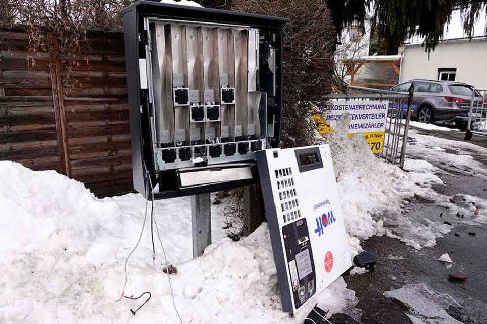Chemnitz: Schon wieder mehrere Zigaretten-Automaten zerstört