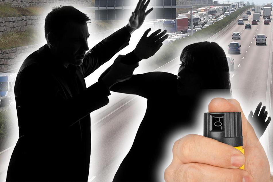 Mit Pfefferspray attackierte ein 33-Jähriger eine 41-Jährige Autofahrerin. (Symbolbild)
