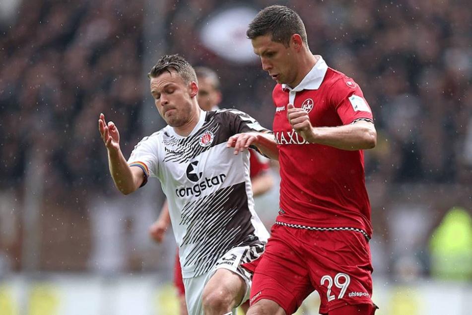 Spielt Stipe Vucur (vorn, gegen Christopher Buchtmann vom FC St. Pauli) ab Januar wieder für Aue?