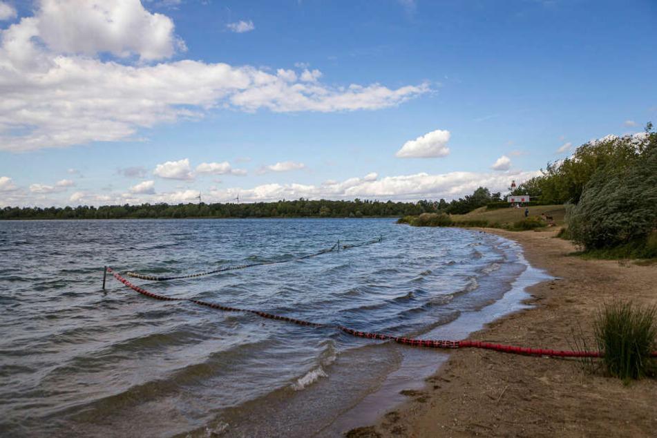 Die Feuerwehr suchte am Mittwochabend im Kulkwitzer See nach einem vermissten Mann. (Archivbild)