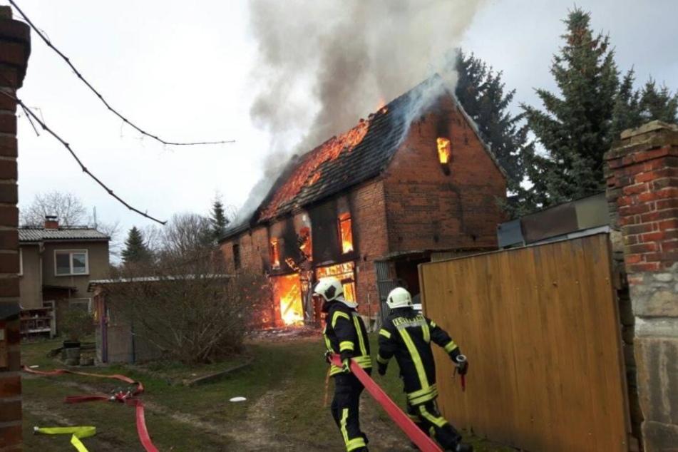 Die Feuerwehren kämpften vergeblich gegen die Flammen.