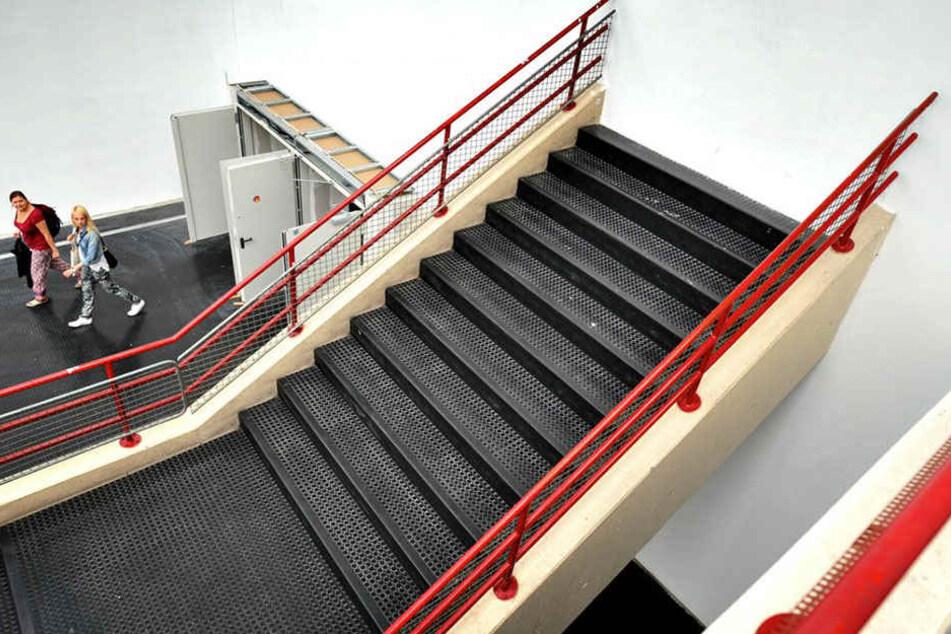 Diese Treppe läuft gegen eine Wand...