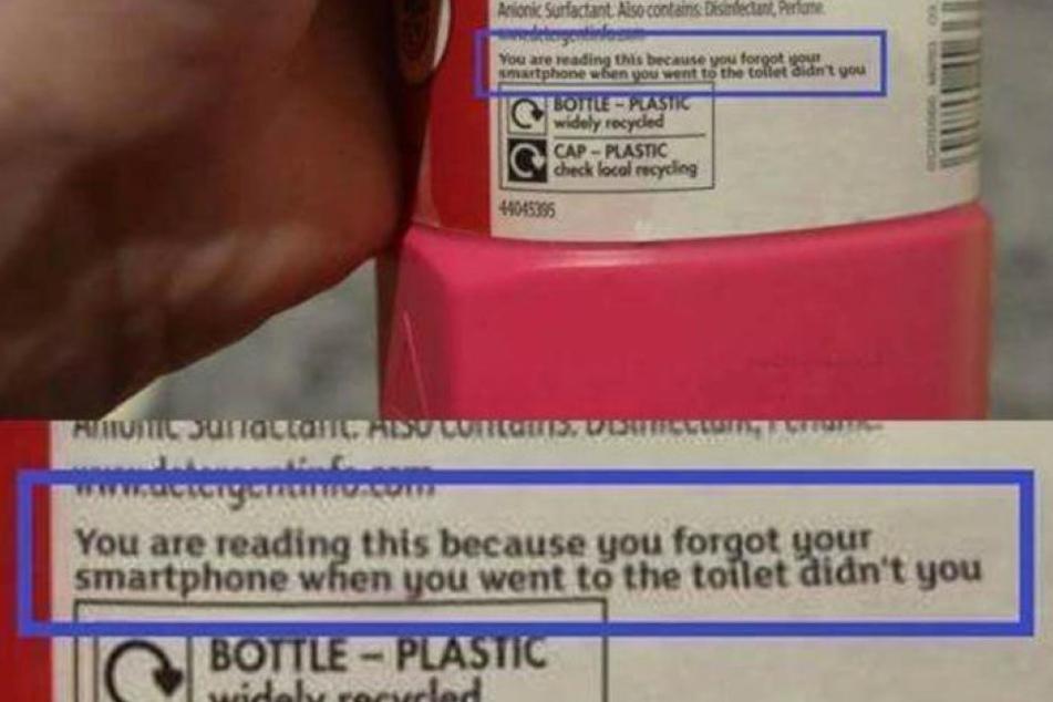 Diesen Hinweis schrieb der Hersteller auf die Rückseite der Verpackung.