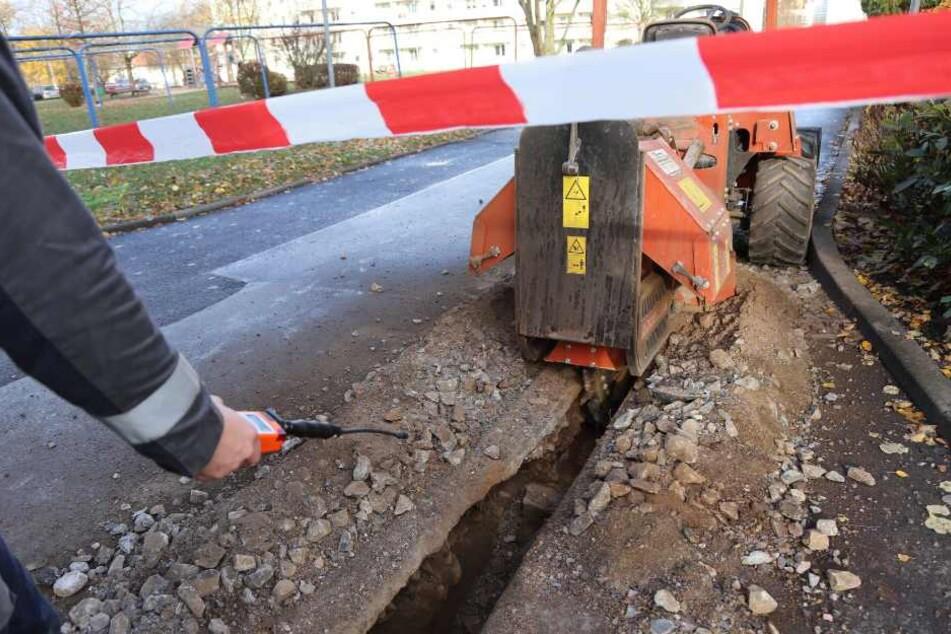 Gasleitung bei Bauarbeiten beschädigt! Anwohner wurden evakuiert