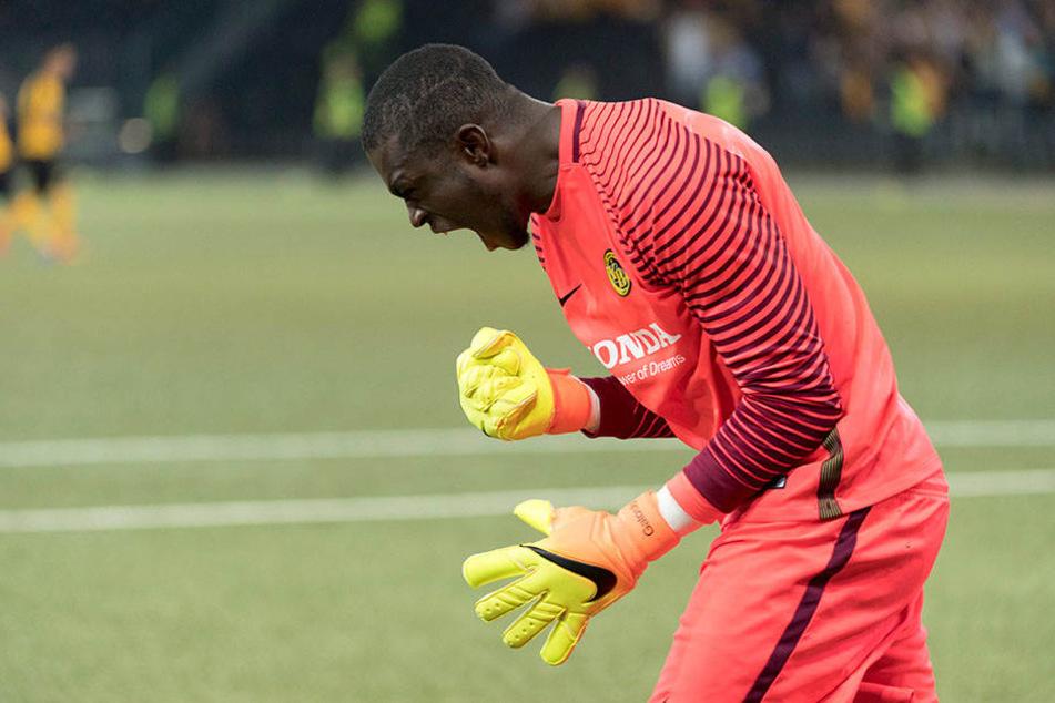 Historisch: Yvon Mvogo wäre der erste schwarzafrikanische Torhüter der Bundesliga-Geschichte.