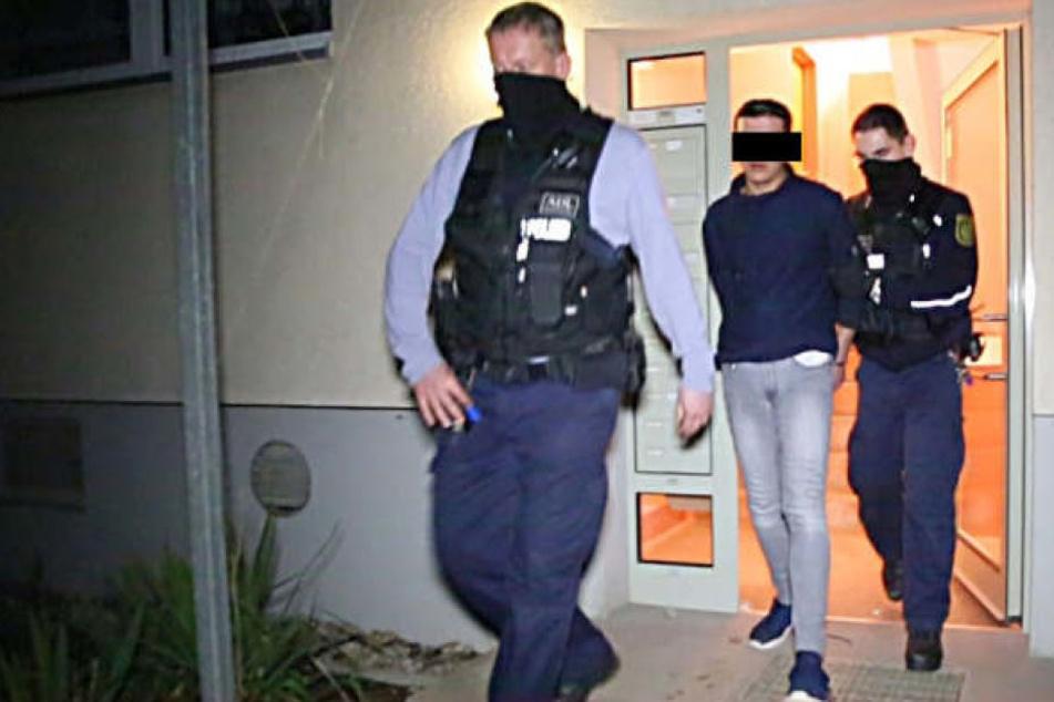 Mitte Februar 2017 wurde Nasser A. in Chemnitz (Helbersdorf) bei einem Polizeieinsatz festgenommen.