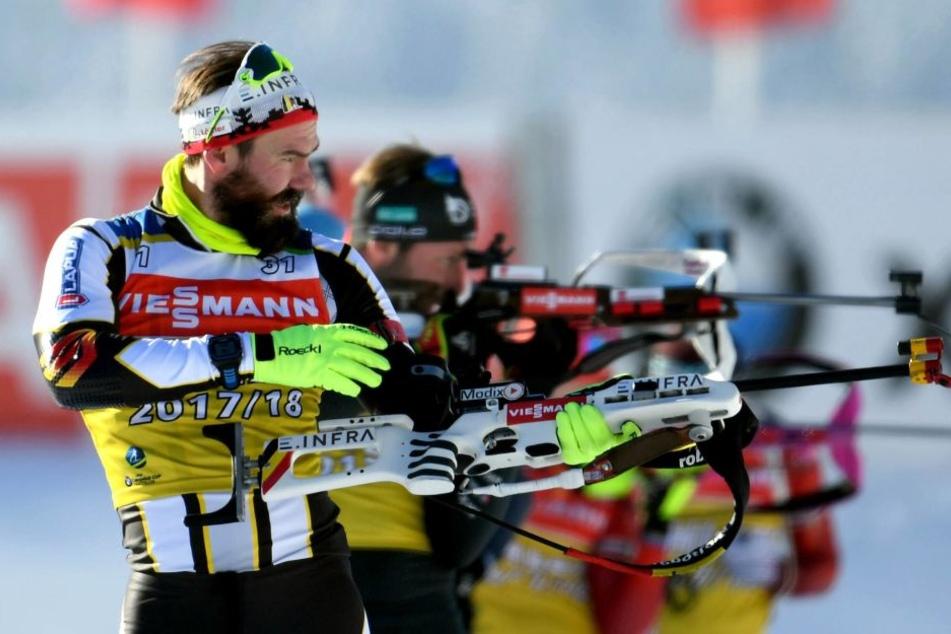 Am Schießstand behielt Michael Rösch aus Altenberg die Nerven und schockte die Konkurrenz.