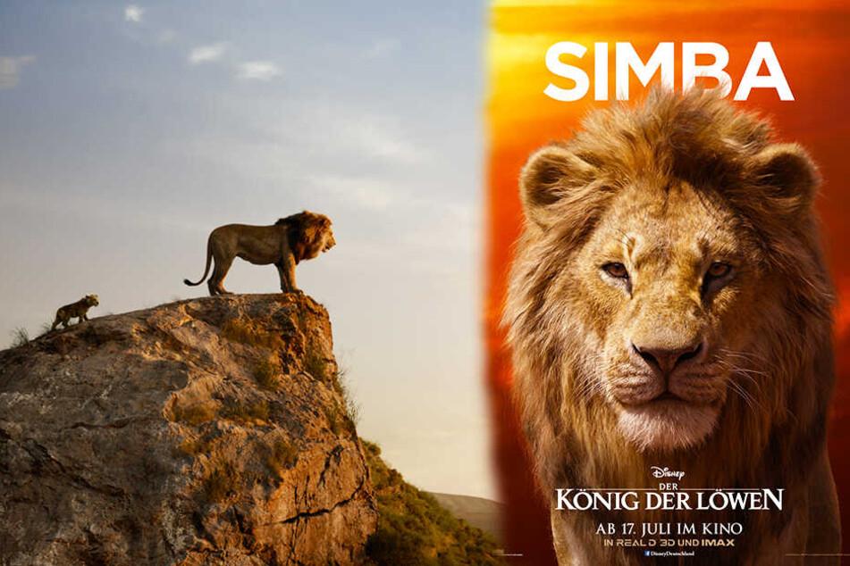 Der erwachsene Simba (r.) spricht im neusten TV-Spot erstmals. (Bildmontage)