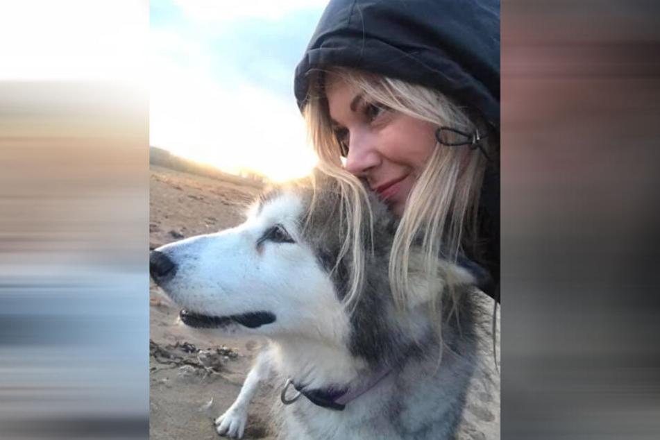 Ashley Mackie (38) wollte ihrer Hündin Maggie May einen schönen Abschied bescheren.