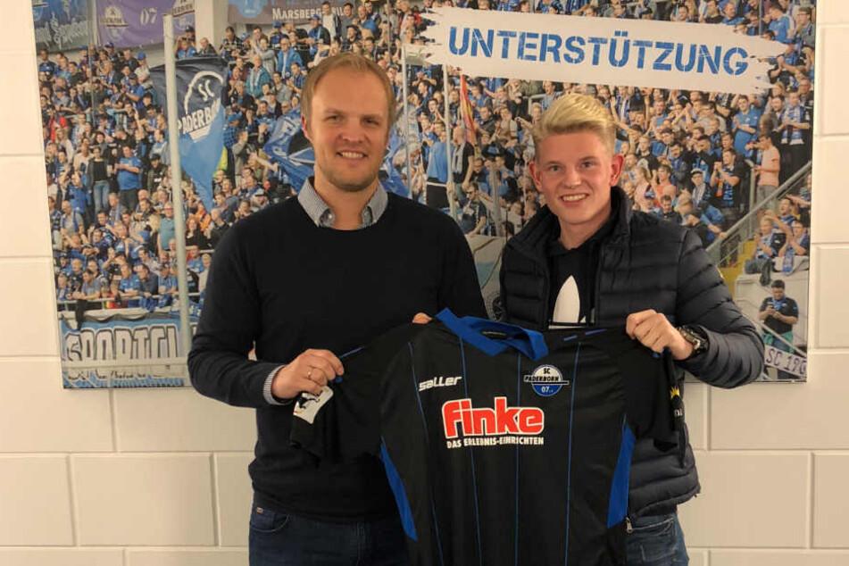 Justin Reineke (r.) bleibt bis mindestens 2020 in Paderborn.
