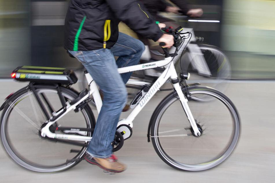 Der Fahrradfahrer fuhr durch die Fußgängerzone (Symbolfoto).