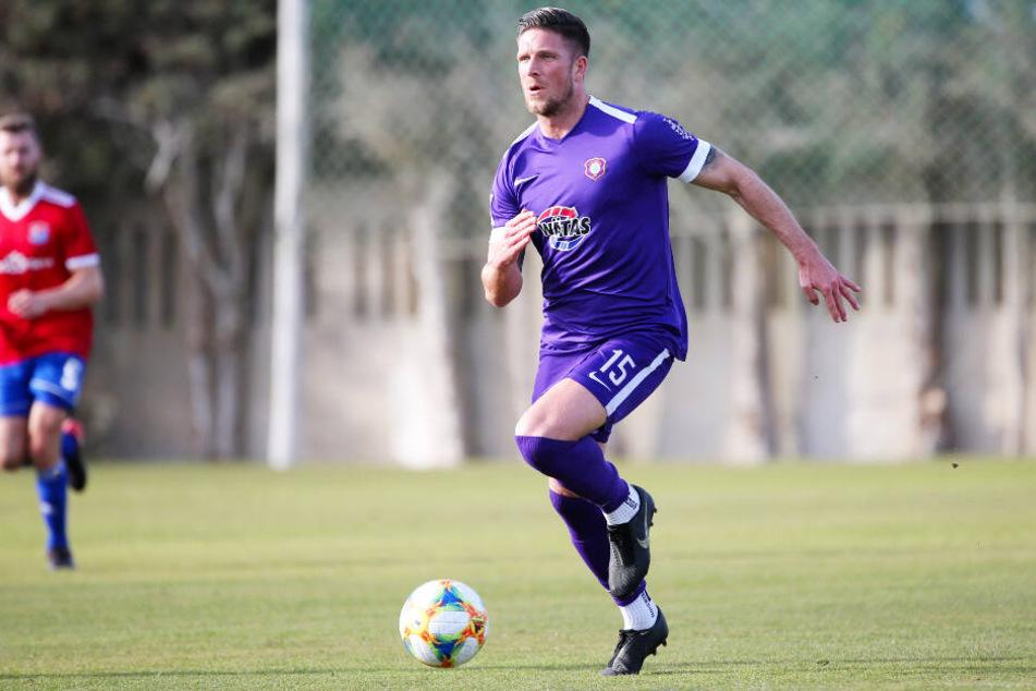 Dennis Kempe zählt zu den fittesten Spielern beim FC Erzgebirge Aue.