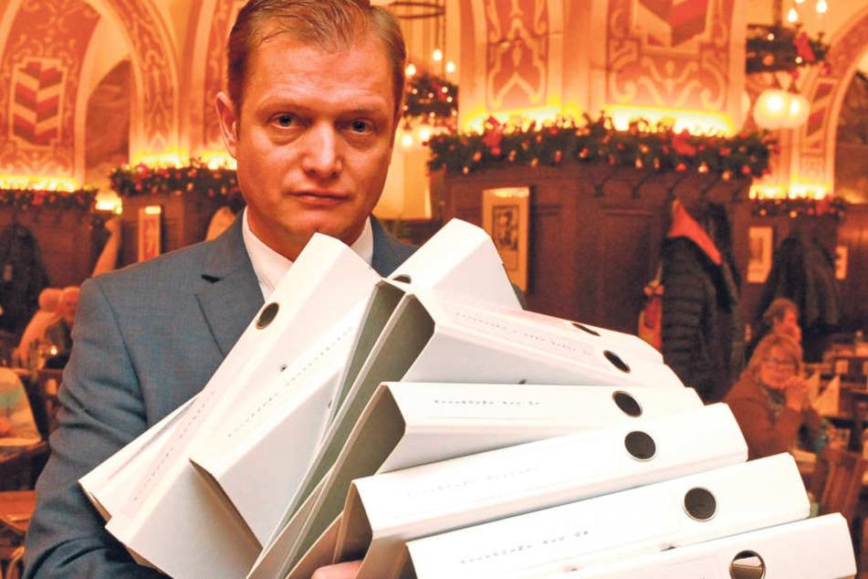 """René Stoffregen (45), der langjährige gastronomische Leiter, übernimmt  """"Auerbachs Keller"""". Aber auch den bürokratischen Ballast."""