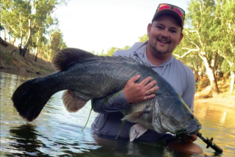 Aaron Graham runs a bait and fishing supply store, and often makes huge catches.