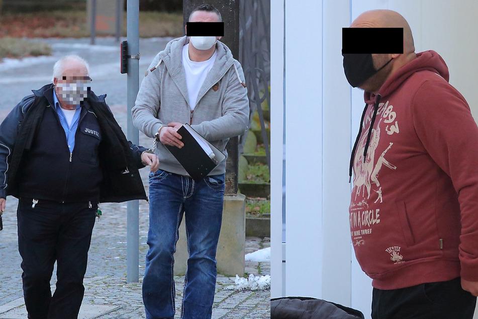 Michael U. (41, l.) nannte gestern vor Gericht keine Namen - Riccardo P. (46) verweigerte die Aussage.