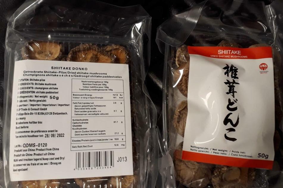 Bei den betroffenen Produkten handele es sich um die 50-Gramm- sowie 1-Kilogramm-Beutel der Shiitake-Pilze.