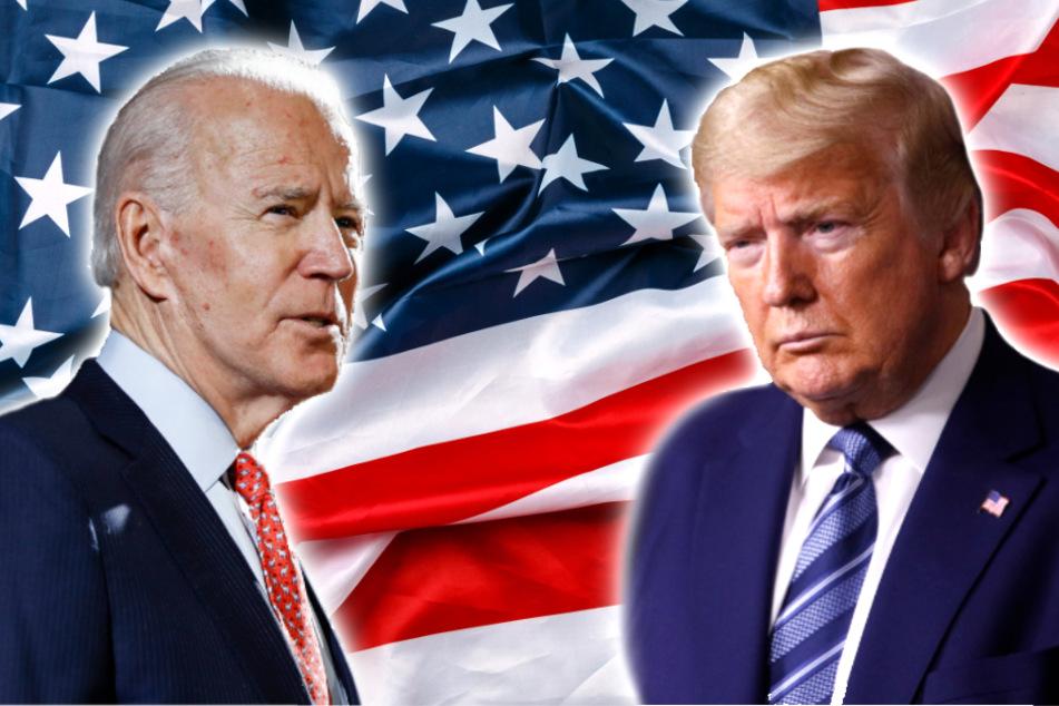Joe Biden (77, l.), designierter Kandidat der Demokraten, tritt gegen den amtierenden US-Präsidenten Donald Trump (74) an.