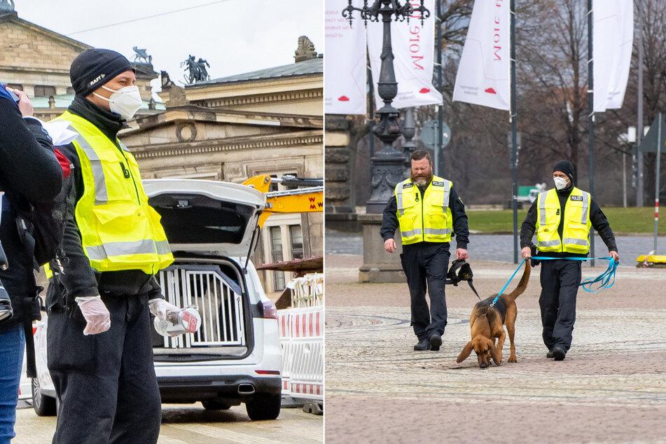 Rund zwei Dutzend Einsatzkräfte mit Hunden waren Dienstagvormittag im Einsatz.