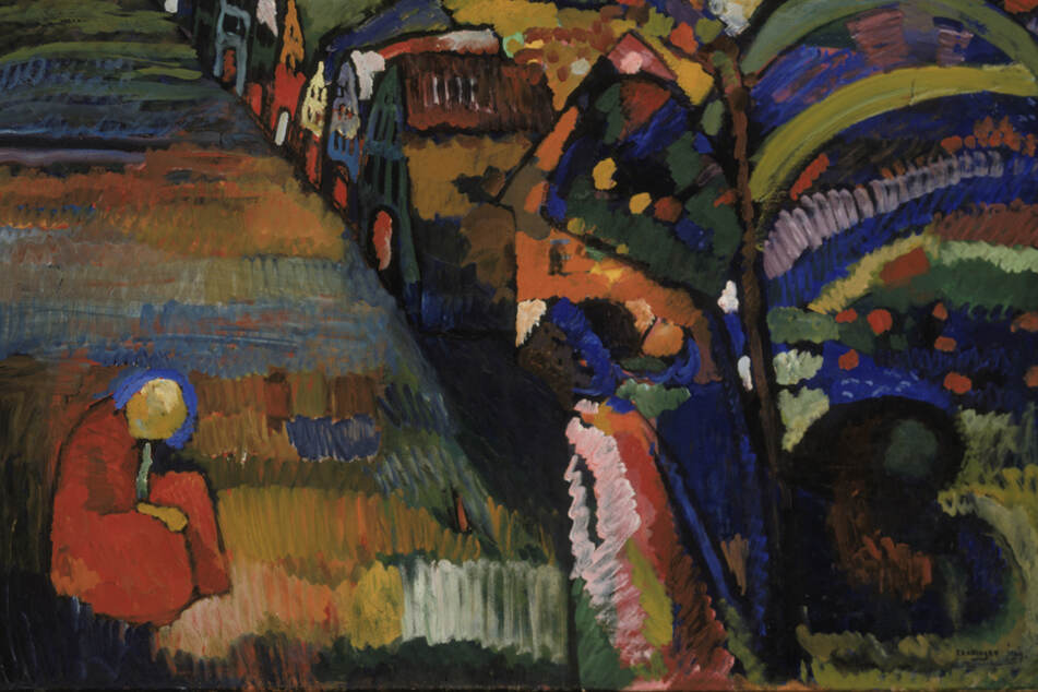 """Ein Gericht in Amsterdam muss entscheiden, wem das Gemälde """"Bild mit Häusern"""" (1909) von Wassily Kandinsky gehört."""