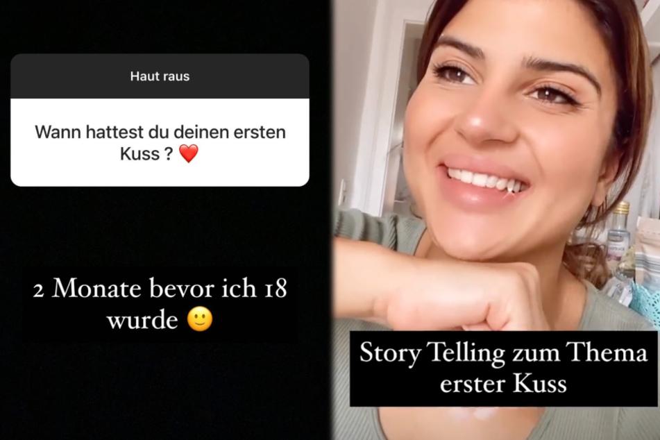 Die Montage zeigt Screenshots zweier Instagram-Storys vom Montag von Influencerin Zara Todil (25).