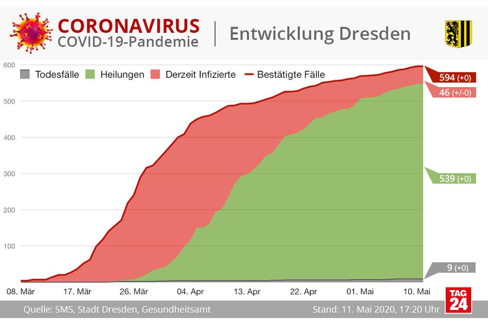 539 Dresdner gelten als geheilt.