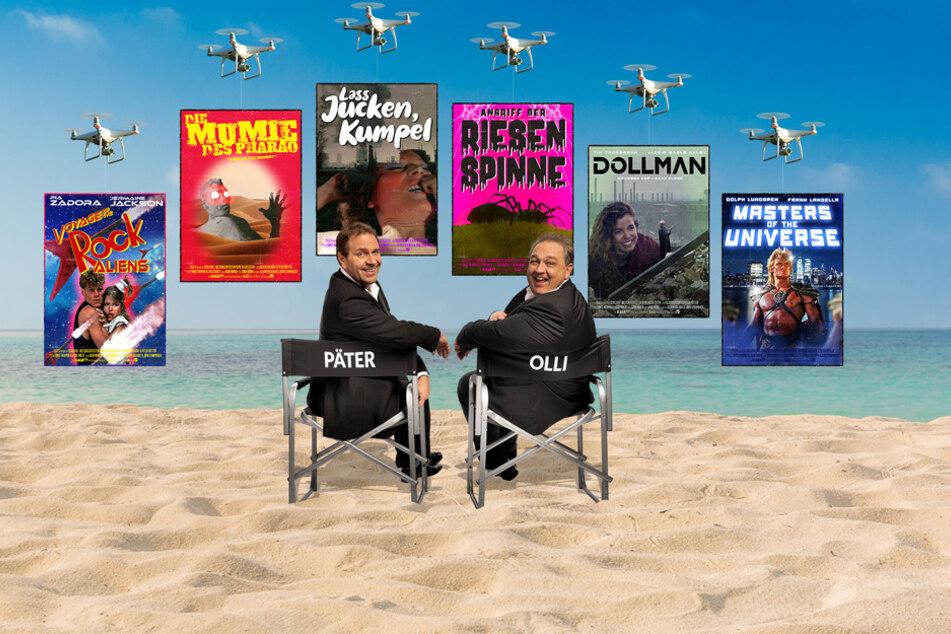 """Peter Rütten und Oliver Kalkofe (v.l.) geben die nächsten """"Errungenschaften"""" für ihr TV-Format bekannt."""
